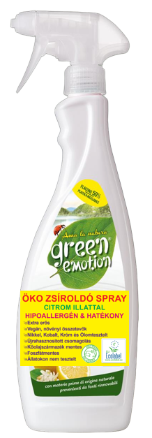 GREEN EMOTION ÖKO Zsíroldó spray Citrom illattal 750 ml